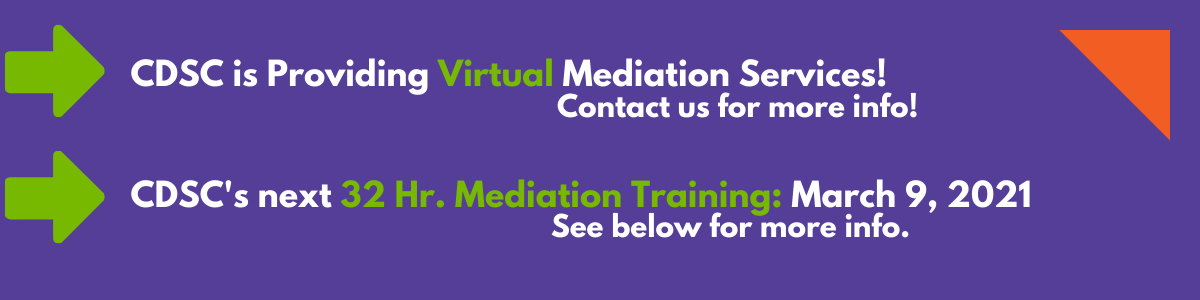 Mediation Training Spring 2018